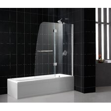 "Aqua 48"" Frameless Hinged Clear Tub Door"