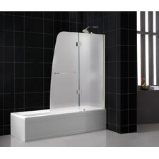 "Aqua 48"" Frameless Hinged Frosted Right Side Tub Door"