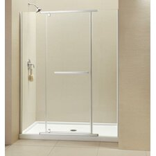 "Vitreo-X  60"" W x 74.75"" H  Pivot Shower Door and SlimLine Shower Base"