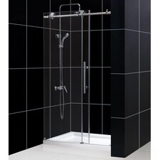 "Enigma-X Fully Frameless 44"" - 48"" W x 76"" H Sliding Shower Door"