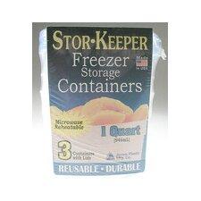 Stor-Keeper 1-Quart Freezer Storage Container (Set of 3)