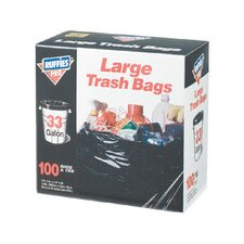 <strong>Berry</strong> 33 Gallon Large Trash Bags in Black (100 Count)