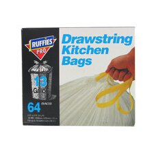13 Gallon Drawstring Kitchen Bags (64 Count)