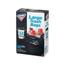 33 Gallon Large Trash Bags (60 Count)