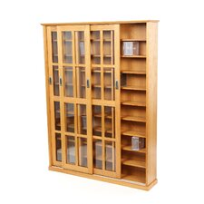 <strong>Leslie Dame Enterprises</strong> Sliding Glass 3 Door Multimedia Cabinet