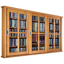 Triple Glass Door Multimedia Wall Mounted Cabinet