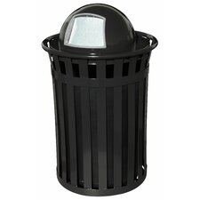 Oakley Trash Receptacle with Dome Top
