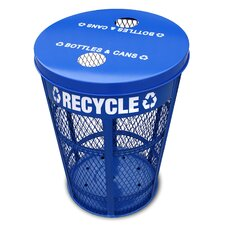 Expanded Outdoor 48 Gallon Industrial Recycling Bin