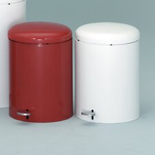 Metal Series 4 Gallon Step-On Trash Can with Galvanized Liner
