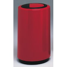 <strong>Witt</strong> Fiberglass Series 21 Gallon Top Entry Round Receptacle with Doors on Trash Opening