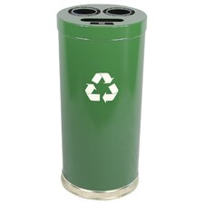 Metal Recycling Three Opening Multi Compartment Recycling Bin