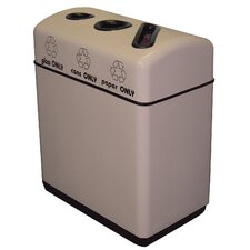 Fiberglass Recycling Triple Opening 48 Gallon Multi Compartment Recycling Bin