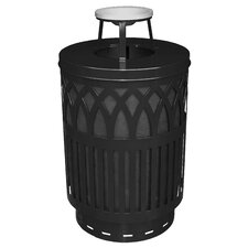 Covington Collection 40 Gallon Decorative Trash Receptacle with Ash Top Lid