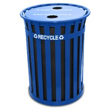 Oakley Slatted 50 Gallon Industrial Recycling Bin