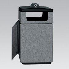 Stadium Series Poly-Lite Crete PLC 47 Gallon Square Trash Side Load Access Door Hide-A-Butt