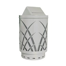 Covington Sawgrass Laser Cut Metal Waste Receptacle with Swing Push Door