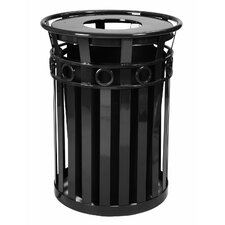 Stadium Series SMB Round Ring 36 Gallon Receptacle with Flat Top Lid