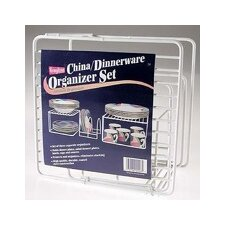 <strong>Grayline</strong> China and Dinnerware Organizer Set