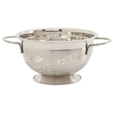 <strong>Norpro</strong> 3 Quart Stainless Steel Cherry and Leaves Design Colander