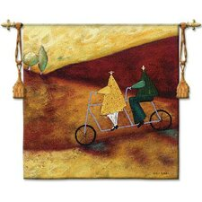 <strong>Fine Art Tapestries</strong> Rolling Home Together BW Tapestry