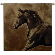 <strong>Fine Art Tapestries</strong> Westward Gallop BW Tapestry