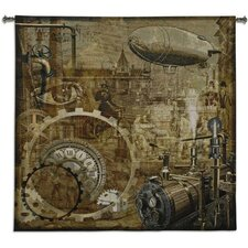 Steampunk BW Tapestry
