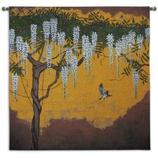 Wisteria with House Finch Tapestry