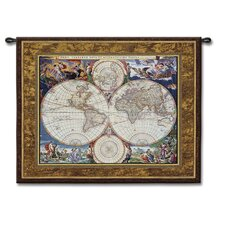 <strong>Fine Art Tapestries</strong> Classical World Map by Acorn Studios Tapestry