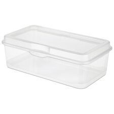 Large Clear Flip Top Storage Box