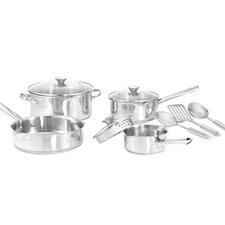 Cook and Strain 3-Ply Stainless Steel 10-Piece Cookware Set