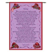Warning by Jenny Joseph and Elizabeth Lucas Tapestry