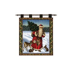 Father Christmas Blue Tapestry
