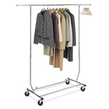 "65.63"" H x 71.25"" W x 23.5"" D Commercial Folding Garment Rack"