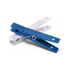 Plastic Clothespins in Blue and White (50 Count)