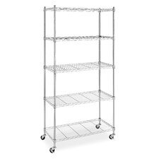<strong>Whitmor, Inc</strong> Five Tier Supreme Cart in Chrome