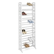 <strong>Whitmor, Inc</strong> 30 Pair Floor Shoe Stand with Non-Slip Bars
