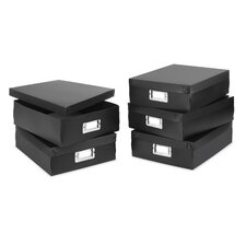 Document Boxes in Black (Set of 6)