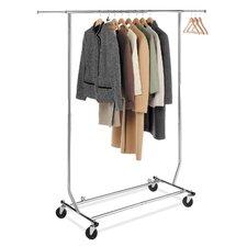 "65.63"" H x 71.25"" W x 23.5"" D Commercial Folding Garment Rack"