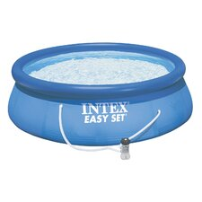 "Round 36"" Deep Easy Set Complete Pool Kit with Ladder"
