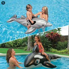 2 Piece Dolphin and Whale Ride-On Pool Toy Set