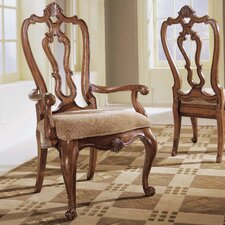 <strong>Universal Furniture</strong> Villa Cortina Carved Back Arm Chair