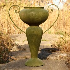 Abraham Urn with Iron Handles Planter