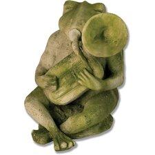 Animals Frog Singing Jazz-Tuba Statue