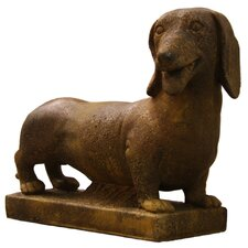 Animals Dachshund on Base Statue