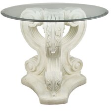 Furniture Acanthus Leaf Outdoor Pedestal Side Table