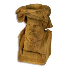 King Richard Head Outdoor Garden Statue Planter