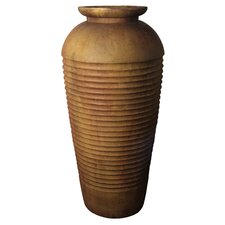 <strong>OrlandiStatuary</strong> Floor Ribbed Round Urn Planter