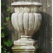 Carved Stadium Round Urn Planter