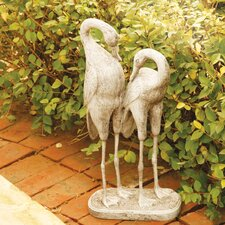 Animals Two Storks Statue