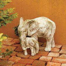 Animals Bull Elephant and Calf Statue